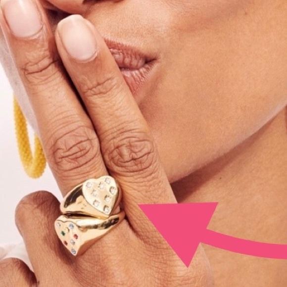 💛✨Alison Lou X J.Crew heart-shaped ring NWT sz 6